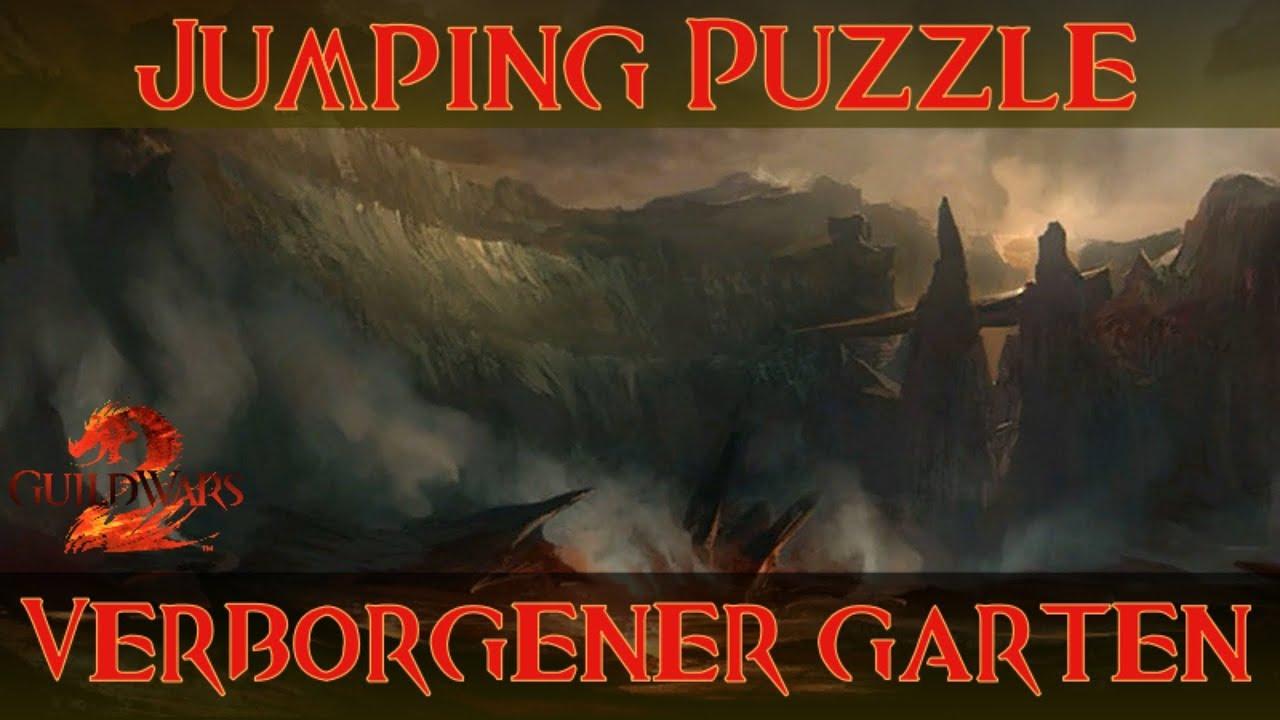 Guild Wars 2 Jumping Puzzle Verborgener Garten Hidden Garden Youtube