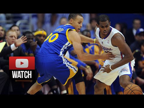 Stephen Curry vs Chris Paul EPIC Duel Highlights 2014 Playoffs West R1G1 - Warriors at Clippers