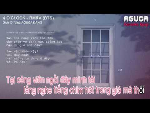 [Karaoke Việt + Audio] 4 O'CLOCK - RM&V (BTS)
