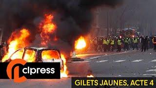 Gilets jaunes Acte 4 : incidents et tensions dans la capitale (8 décembre 2018) [4K]