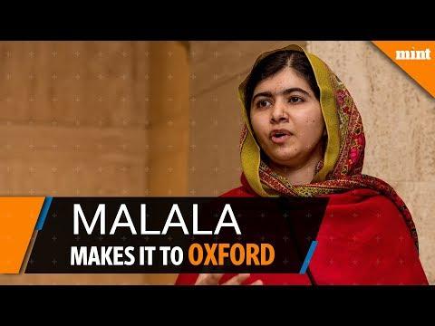 Malala wins place at Oxford University
