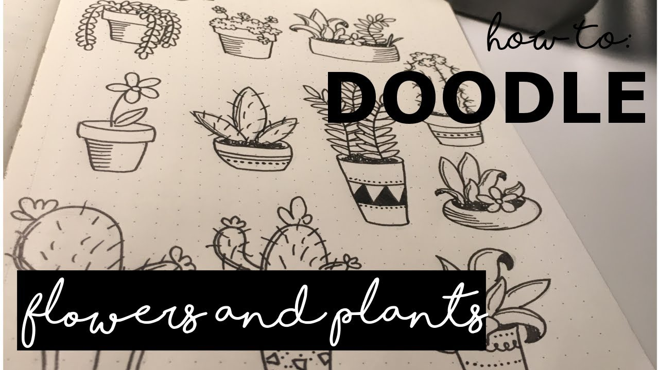 How to: Flower DOODLES for your bullet journal // DOODLE WITH ME