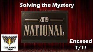 2019 Panini National Black Box - Mystery 1/1 Encased Auto!
