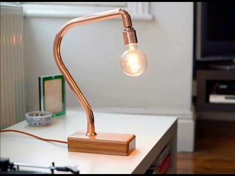Handmade Copper Desk Lamp Q Light
