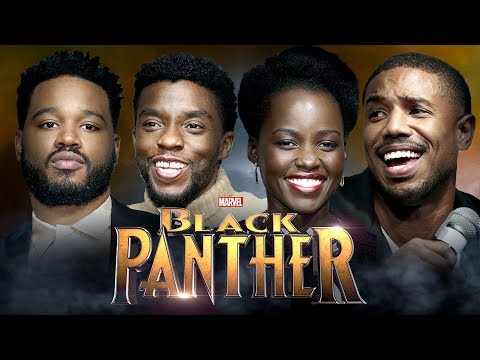 INTERVIEW BLACK PANTHER w/ Chadwick Boseman, Lupita Nyong'o, Michael B. Jordan & Ryan Coogler