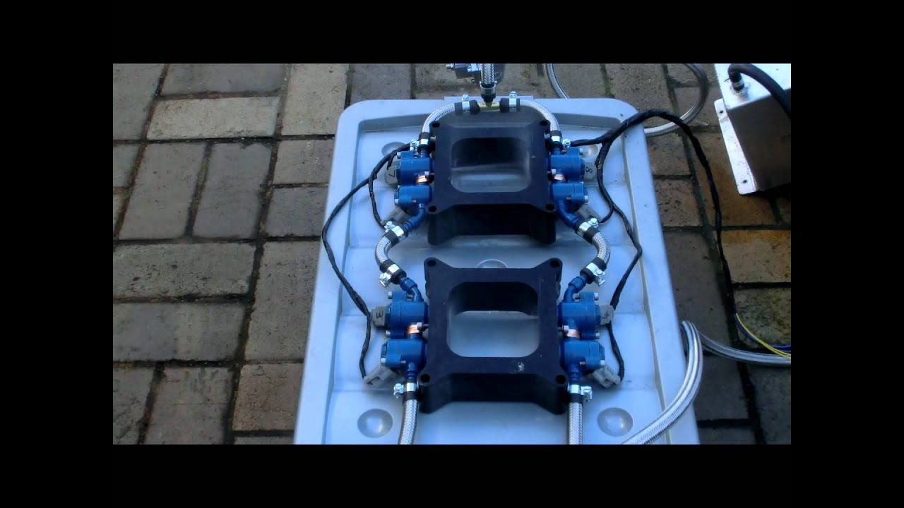 Diy Dual Quad Fuel Injection Test With Slomo Youtube
