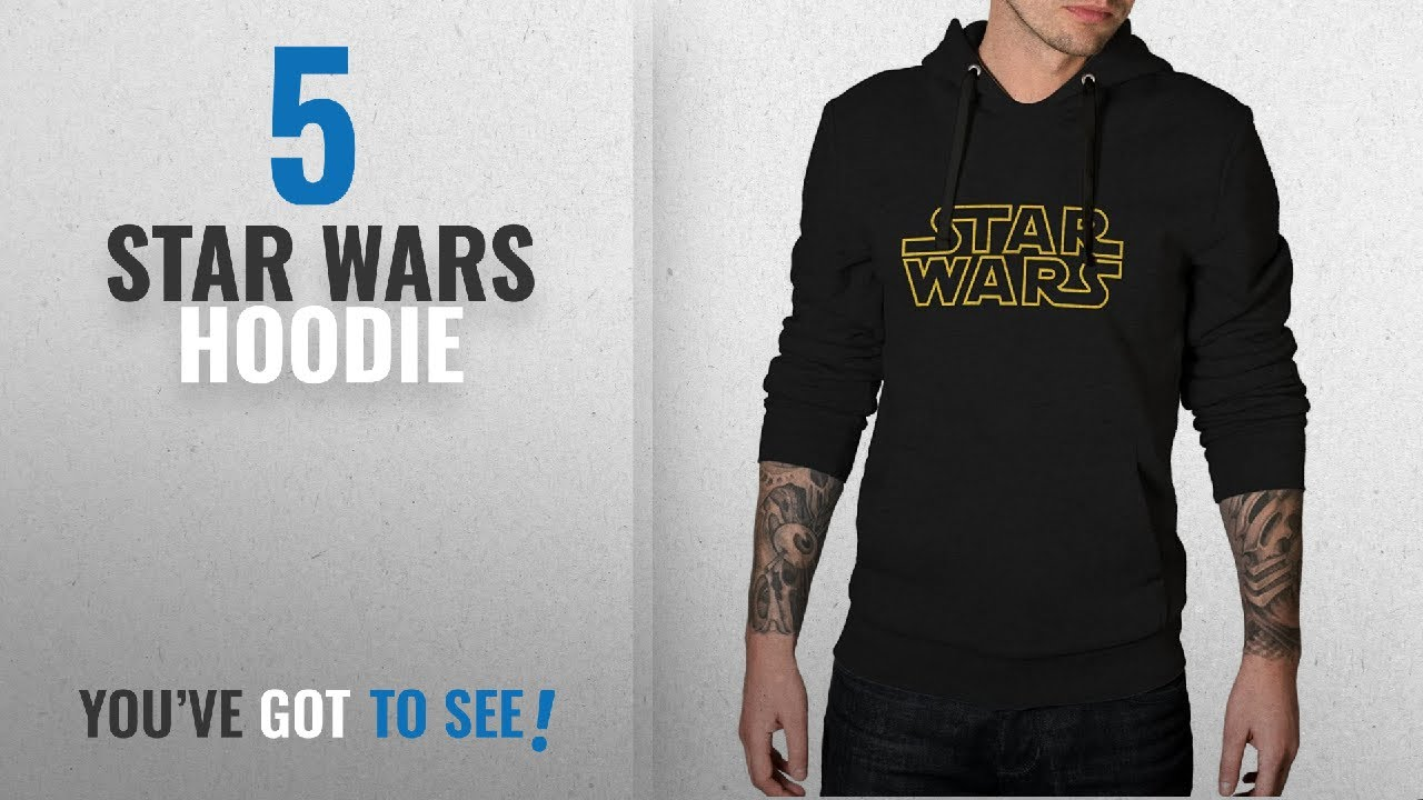 b4bce197 Top 10 Star Wars Hoodie [2018]: Decrum Yellow Border Star Wars ...