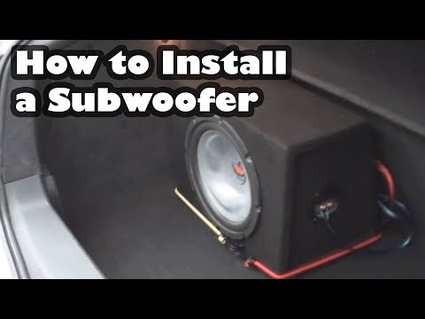 how to connect a car amplifier and subwoofer