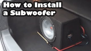 How to Install a Subwoofer and Amplifier in a car