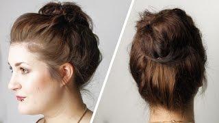 Messybun für feines, plattes Haar + Tipps für besseren Halt