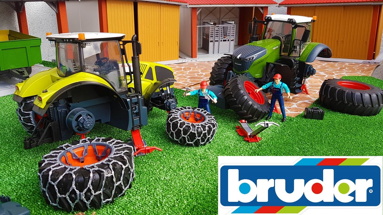 Bruder Toys Rc Tractors News Delivery Youtube