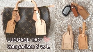 Louis Vuitton Luggage Tag Comparison, Small VS Large