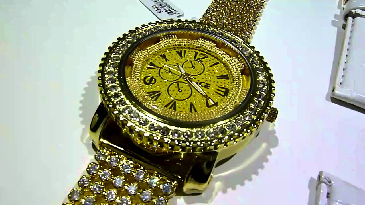 "Breitling Bentley Watches >> (SOLD)$129 GOLD ICED-OUT Breitling type ""KING"" Lab Made ..."