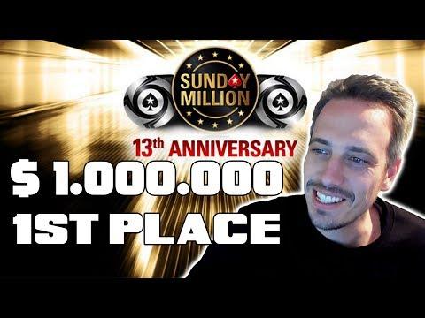 1 MILLION Dollar 1st Place! PokerStars Sunday Million Anniversary!