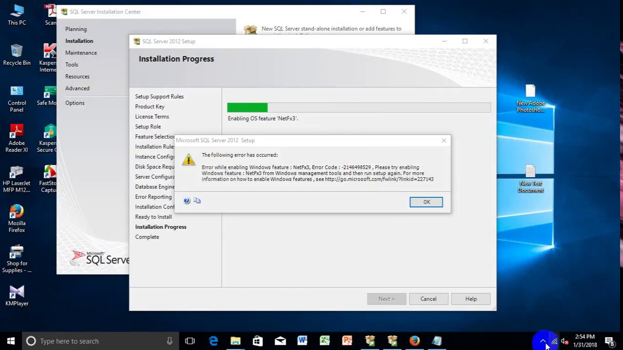 Fix NetFx3 error while installing SQL Server 2012 on windows 8,8 1,10  without windows update