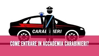 Come entrare nell'Accademia dei Carabinieri