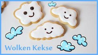 Wolken Kekse - Baby Shower Party - Kinder - einfach selber machen - Backlounge Rezept