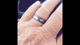 DEC 3RD - Tungsten Ring in a Titanium Scoop - thimble - gray matter- big brass hook