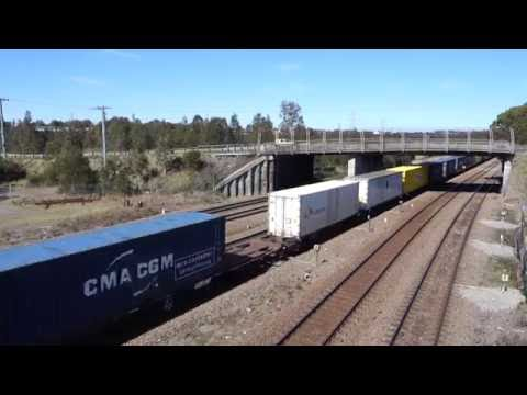 Half an hour of rail action at Sandgate NSW - 21/8/16