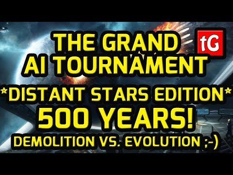 Stellaris Grand AI Tournament – to 2700! (500 years!) – EVOLUTION VS. DEMOLITION ;-) |