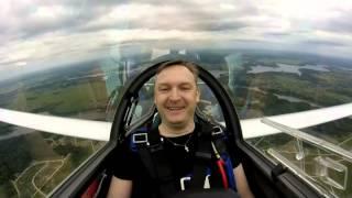 Пилотаж на планере Twin Astir в Шевлино