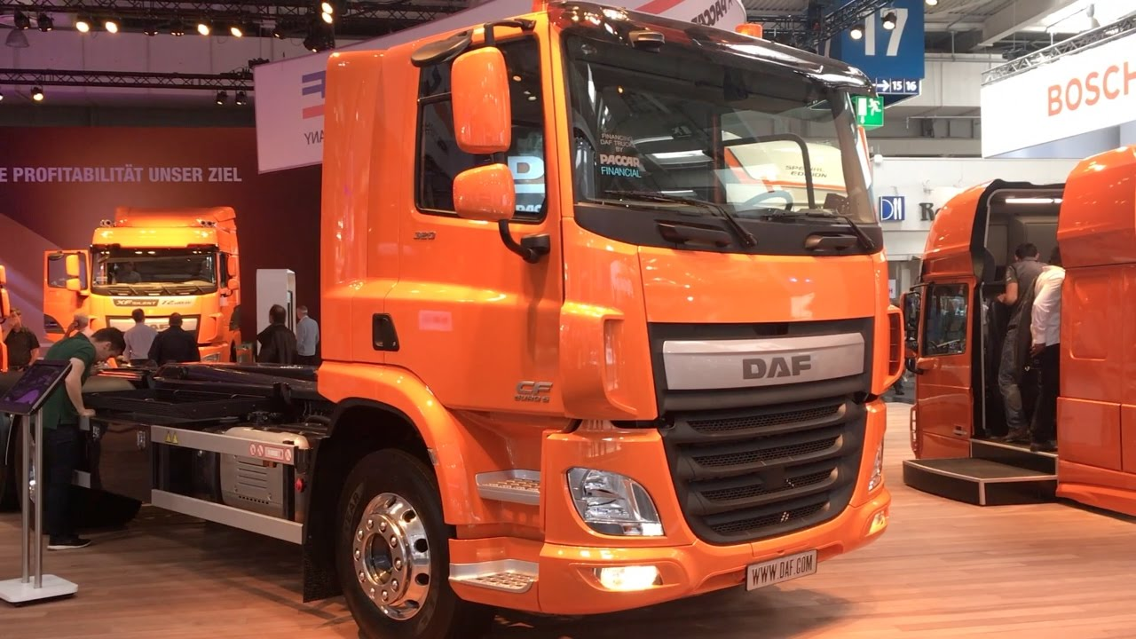 DAF CF 320 FAN VDL hook lift 2017 In detail review walkaround Interior Exterior