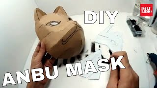 DIY Kakashi Anbu Mask Part 1 - Cardboard Naruto Cosplay (80% - how to connect cardboard)