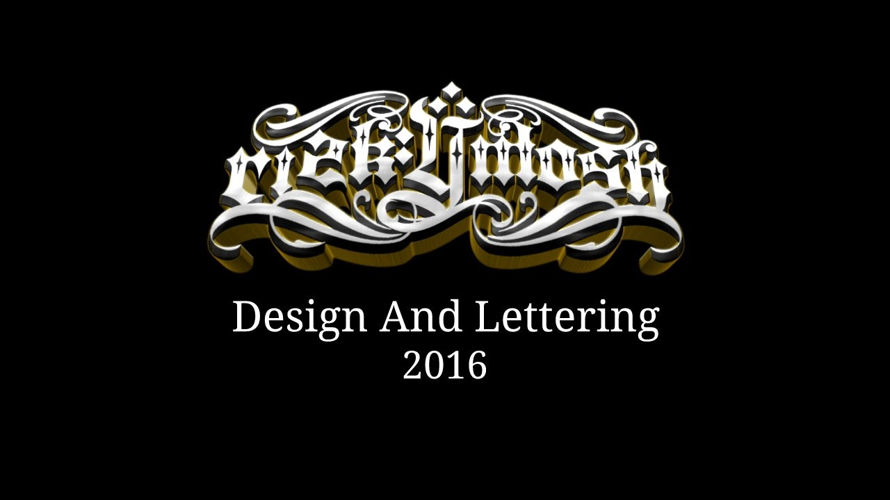 logo design and lettering gangsta 2016 by rizkymoish yk youtube