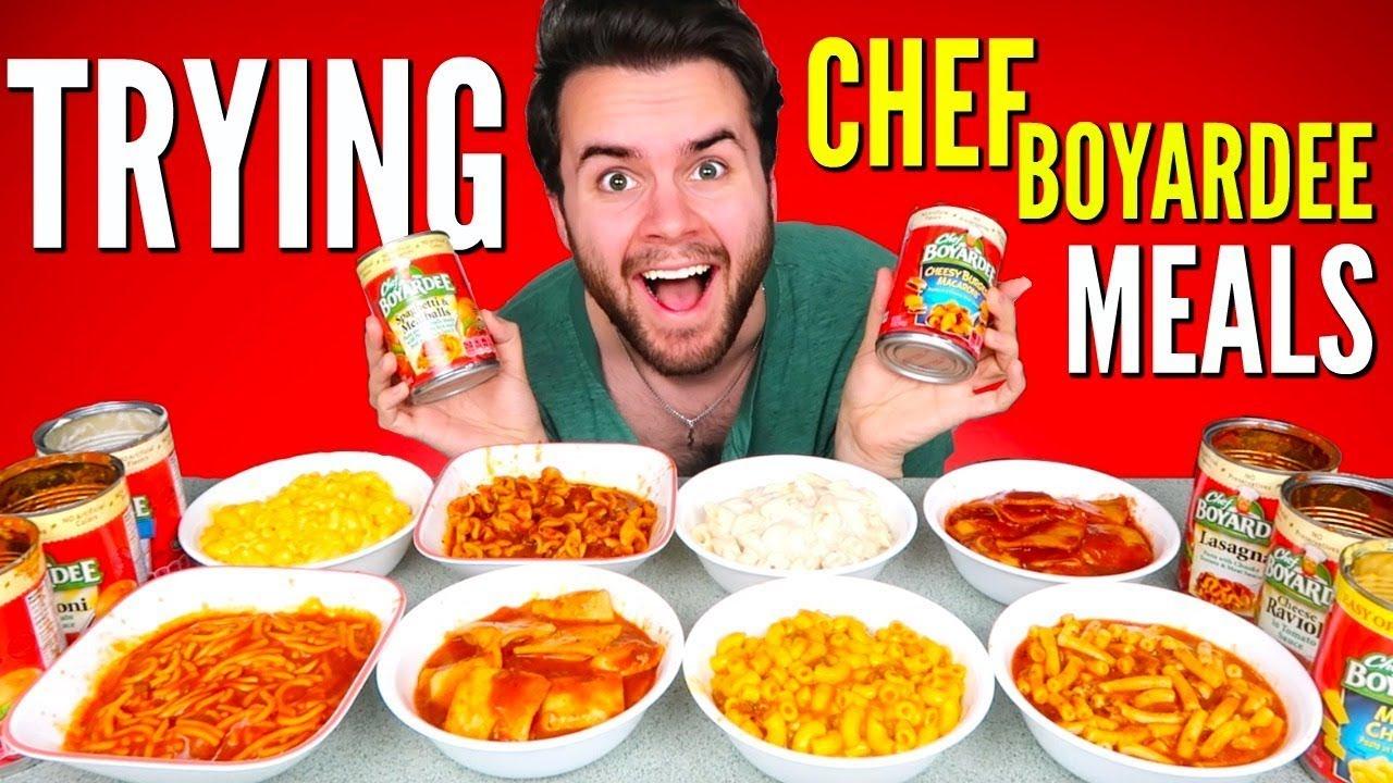 trying chef boyardee canned
