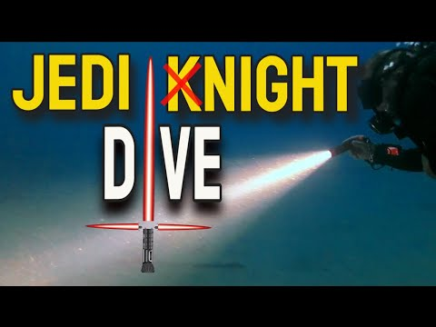 Light Saber Scuba Night Dive with Orca Torch D710