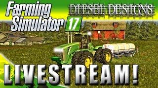 Farming Simulator 2017 : Livestream : Farming, Logging, & Making Cash!