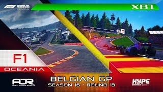 F1 2018 | AOR Hype Energy F1 League | XB1 Oceania S3 | R13: Belgian GP