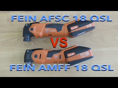 FEIN SuperCut AFSC 18 QSL и FEIN MultiMaster AFMM 18 QSL Сравнение