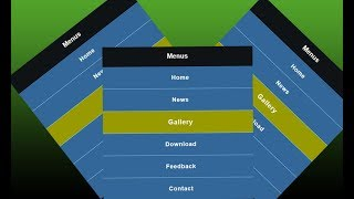 Pure HTML and CSS Responsive Navigation menus