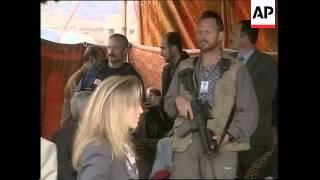 1. Afghan President Hamid Karzai and US Ambassador Robert Finn digg...