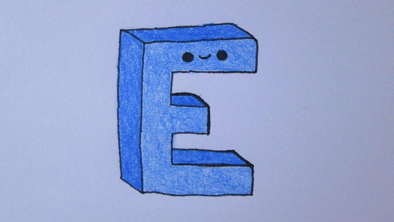 como desenhar a letra e youtube