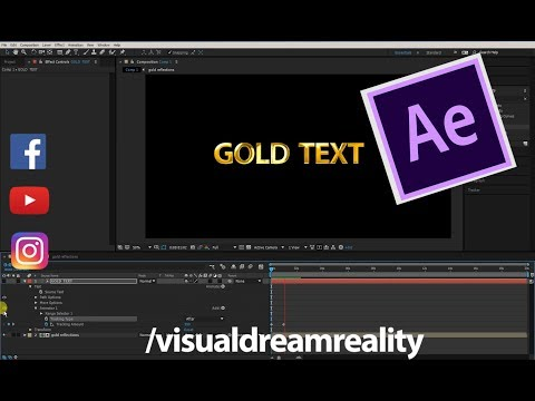 Adobe After Effects CC Tutorial: How to create Gold Text Style