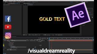 Altın Metin Stili oluşturma Etkileri CC Öğretici Sonra Adobe: