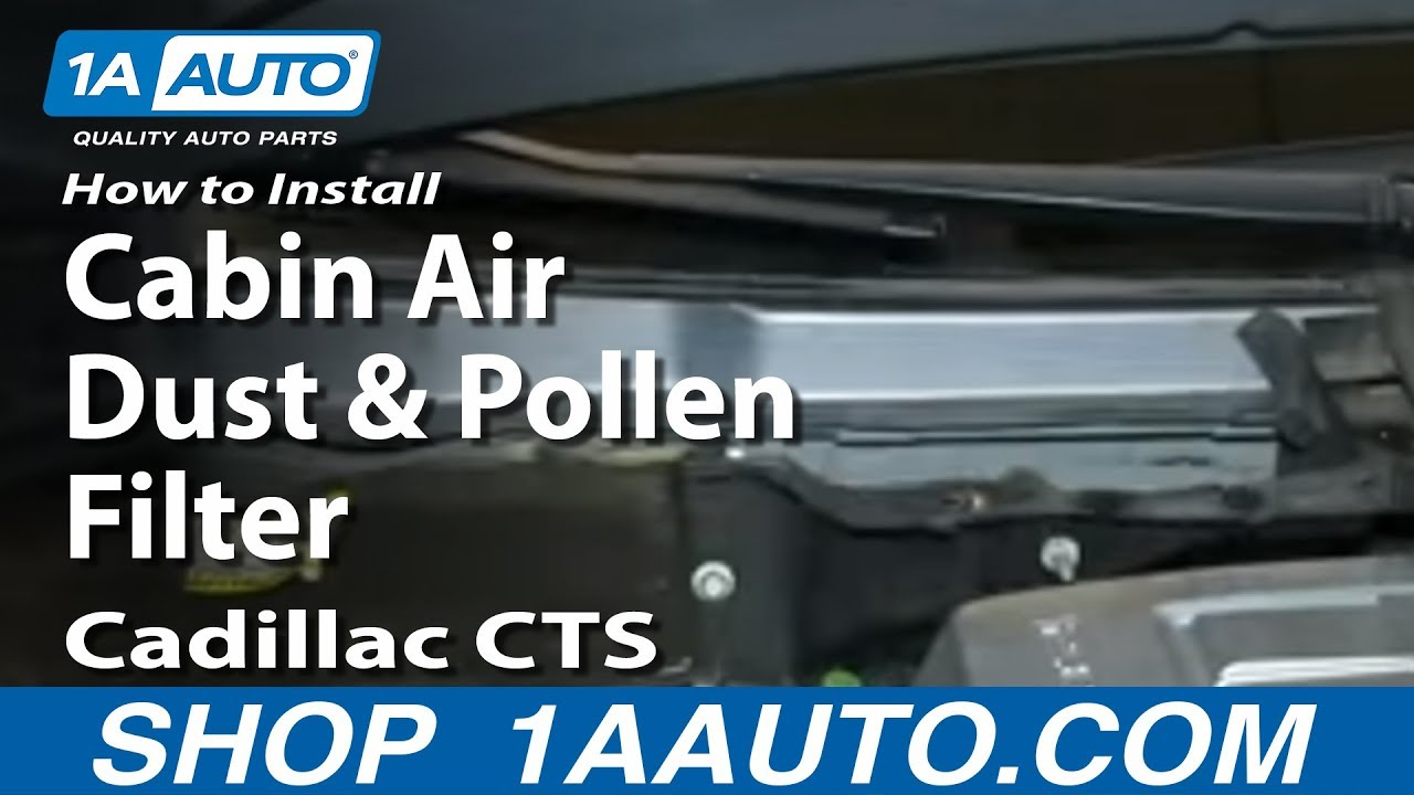 How To Install Replace Cabin Air Dust And Pollen Filter