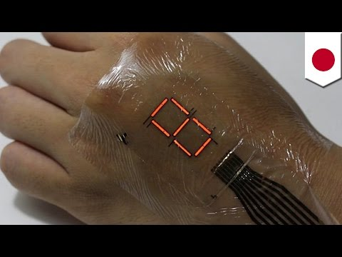 Wearable electronics: E-skin turns your body into an LED display - TomoNews
