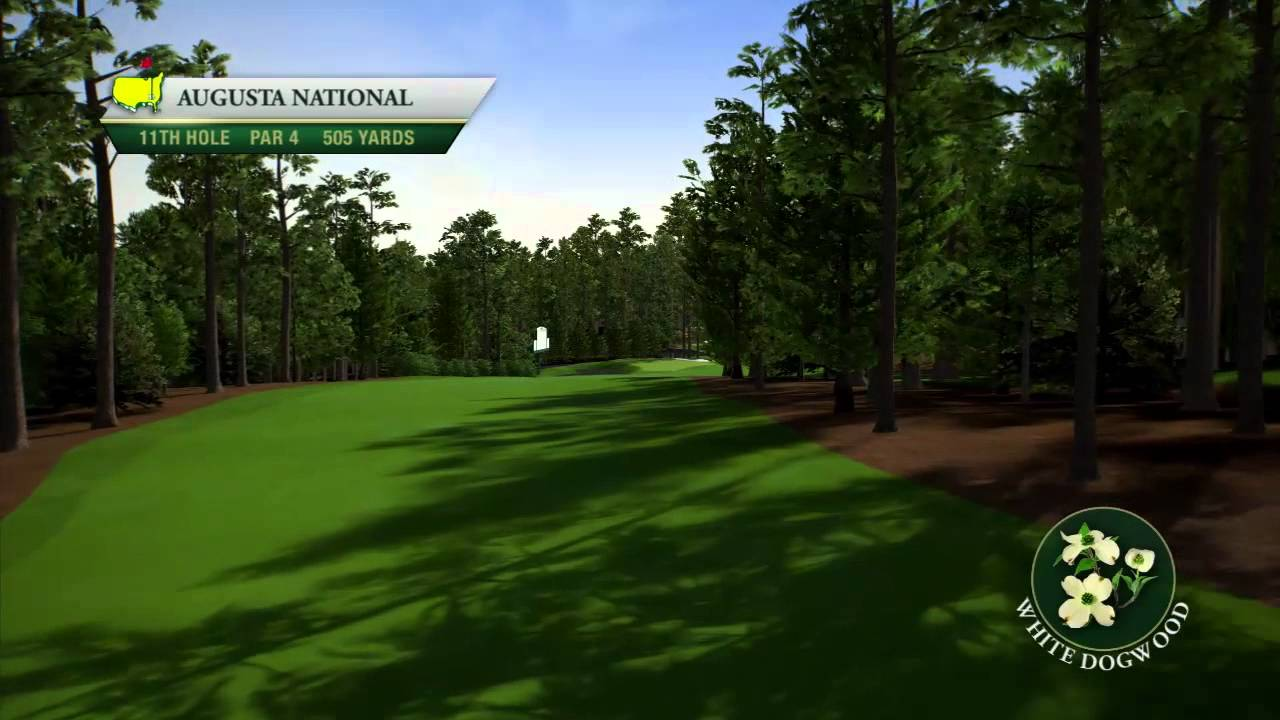 Course Flyover Augusta National Golf Club S 11th Hole