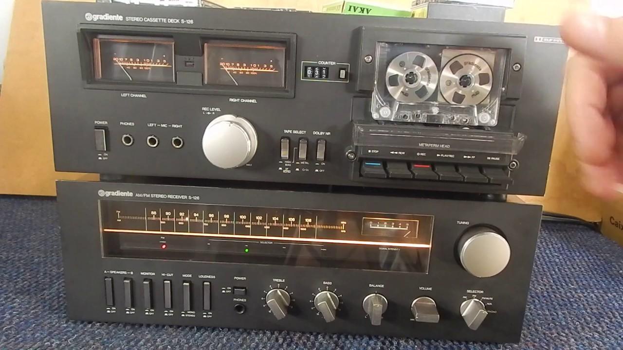 Gradiente System S-126 Receiver Tape  Demonstra U00e7 U00e3o