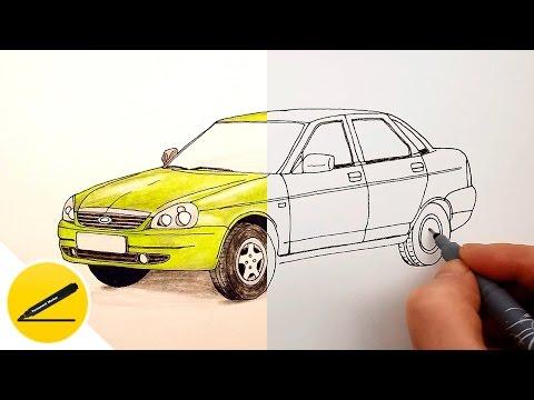 как нарисовать крутую машину карандашом Города мира