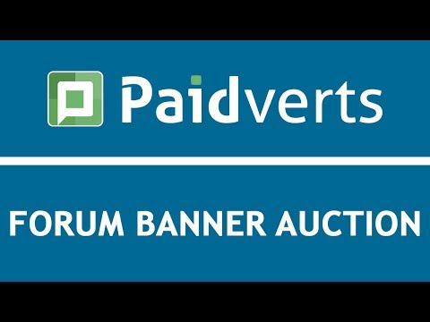 Paidverts Tutorials: Forum Banner Auction