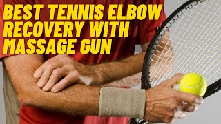 How to use your massage gun - Tennis Elbow and golfer's elbow pain relief.