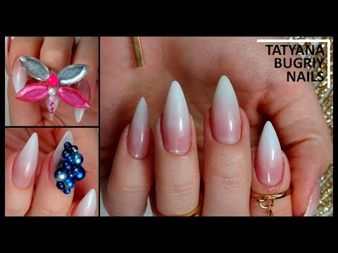 Ногти острые белые