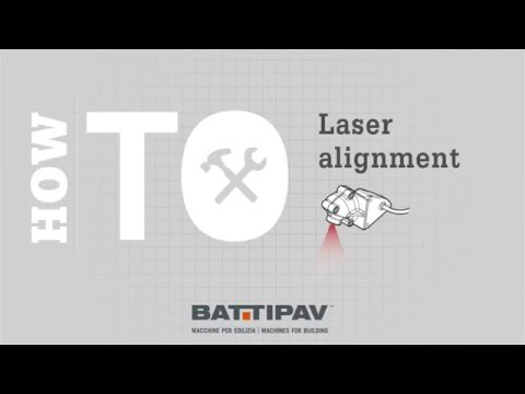 Battipav Machines - How to adjust the laser