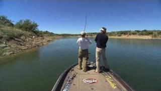B.A.S.S. pro Jeff Kriet and Wade Middleton fishing in spring