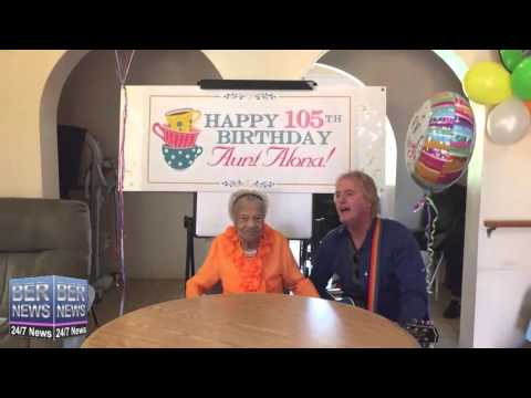 Alona Lambert-Simons Celebrates 105th Birthday, January 21 2016