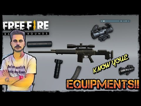 FREEFIRE BG- KNOW YOUR WEAPON EQUIPMENTS|| EXACT USE OF FOREGRIP, MUZZLE, SILENCER, MAG!!